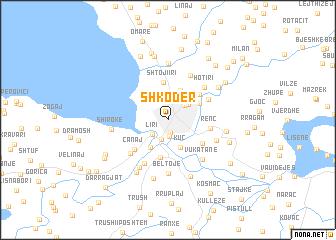Shkodr Albania map nonanet