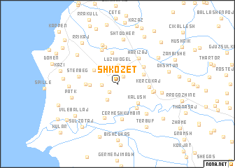 map of Shkozet