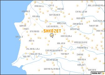 Shkozet Albania map nonanet