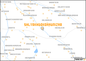 map of (( Shlyakh do Kommunizma ))