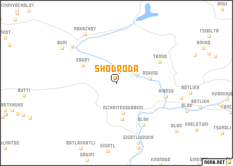 map of Shodroda