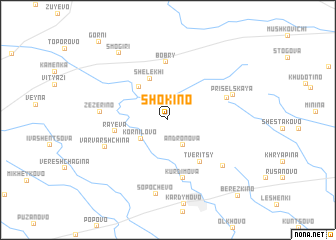 map of Shokino