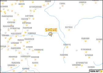 map of Showe