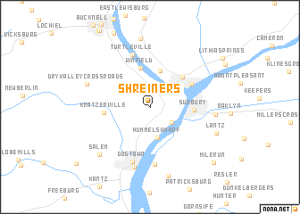 map of Shreiners