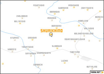 map of Shumikhino