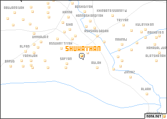 map of Shuwayḩān