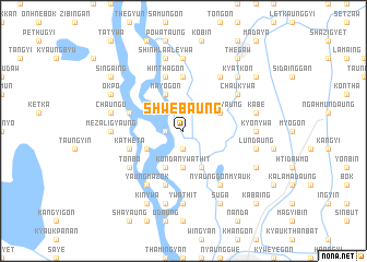 map of Shwebaung