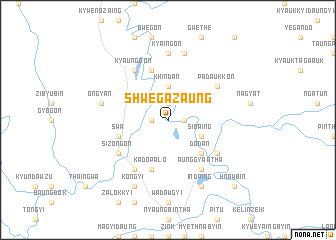 map of Shwegazaung