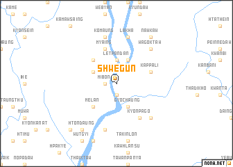 map of Shwegun