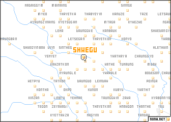 map of Shwegu