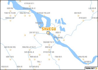map of Shwegu