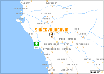 map of Shwegyaungbyin