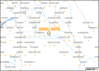 map of Shwelaung