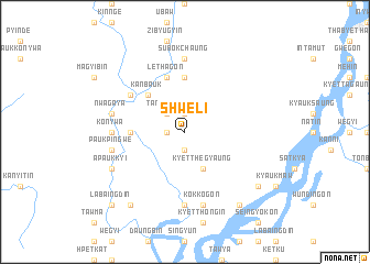 map of Shweli