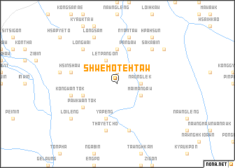 map of Shwe-mote-htaw