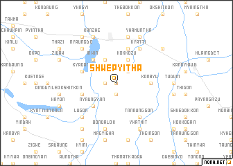 map of Shwepyitha