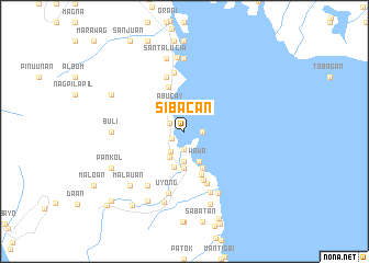 map of Sibacan