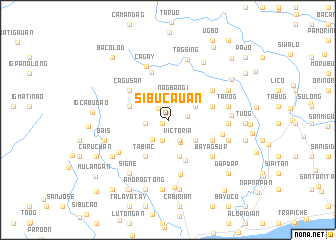 map of Sibucauan