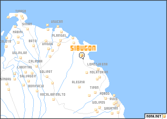 map of Sibugon