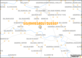 map of Sidi Ahmed bou Youssef