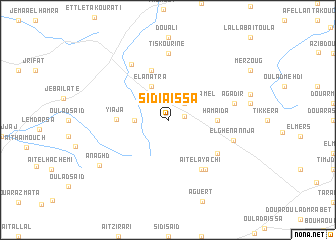 map of Sidi Aïssa