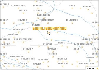 map of Sidi Ali Bou Hammou