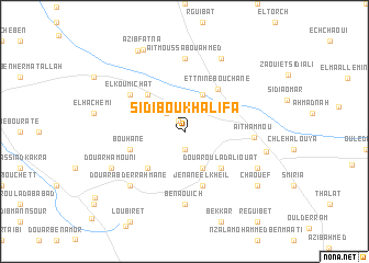 map of Sidi Bou Khalifa