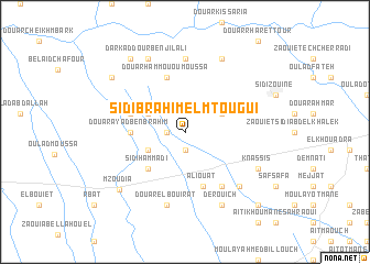 map of Sidi Brahim el Mtougui