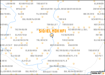 map of Sidi el Mokhfi