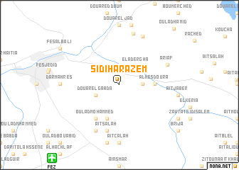 map of Sidi Harazem
