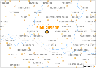 map of Sidi Lahsene