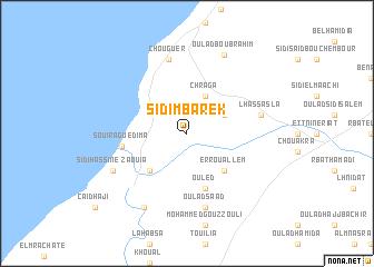 map of Sidi Mbarek