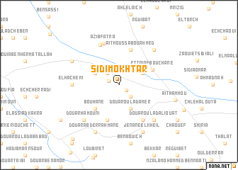map of Sidi Mokhtar