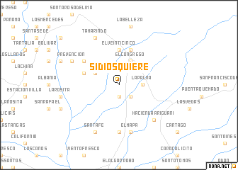 map of Si Dios Quiere