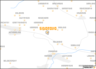 map of Sidorovo