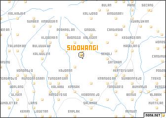map of Sidowangi