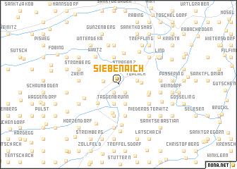 map of Siebenaich