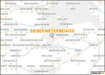 map of Siebenhirten bei Wien