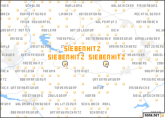 map of Siebenhitz