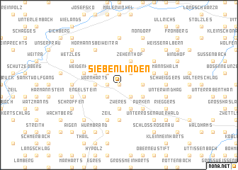 map of Siebenlinden