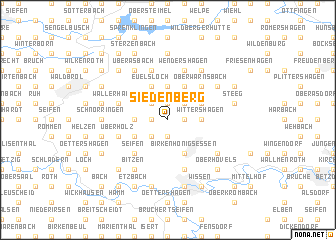 map of Siedenberg
