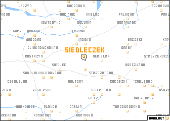 map of Siedleczek