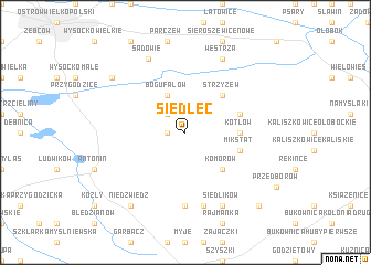 map of Siedlec