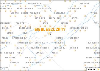 map of Siedleszczany