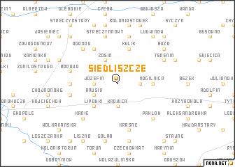 map of Siedliszcze