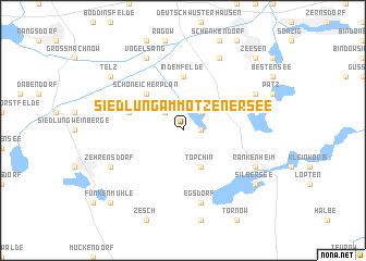 map of Siedlung am Motzener See