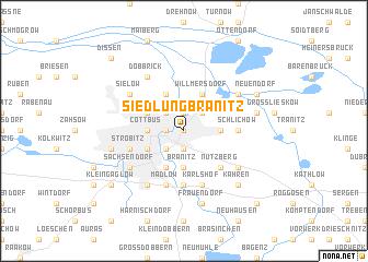 map of Siedlung Branitz
