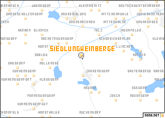 map of Siedlung Weinberge