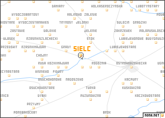 map of Sielc