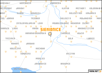 map of Siemianice